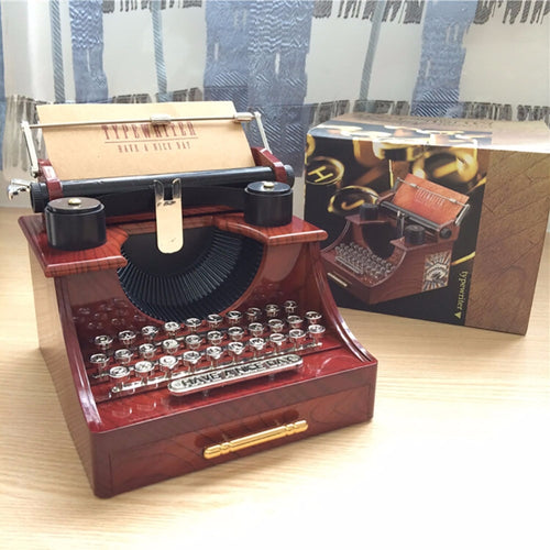 Vintage Typewriter Music Box