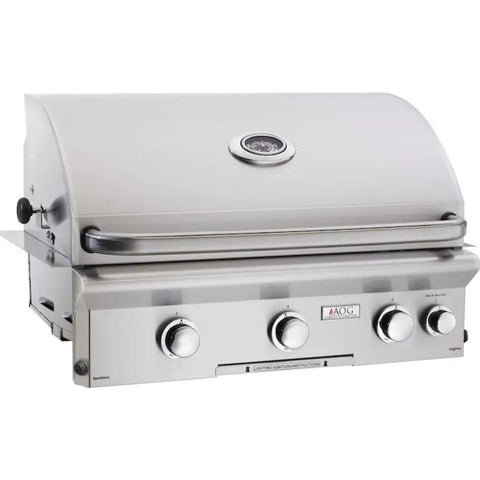 "Fire Magic L Series 30"" 3 Burner Built-In Grill Natural Gas Grill with Rotisserie Complete Set - 30 NBL"
