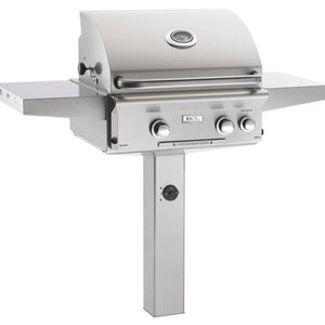 "Fire Magic L Series 24"" 2 Burner In-Ground Natural Gas Grill with Rotisserie Complete Set - 24NGL"