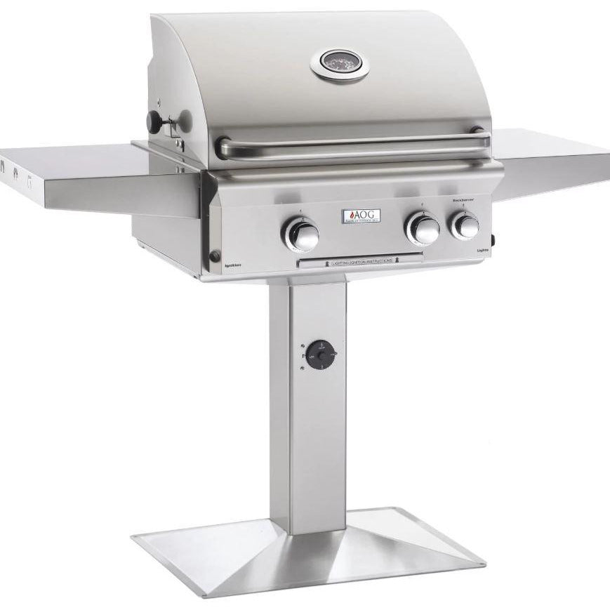 "Fire Magic T Series 24"" 2 Burner On Pedestal Natural Gas Grill with Rotisserie Complete Set - 24NPT"