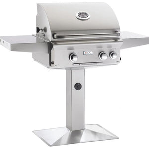 "Fire Magic L Series 24"" 2 Burner On Pedestal Natural Gas Grill with Rotisserie Complete Set - 24NPL"