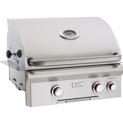 "Fire Magic L Series 24"" 2 Burner Built-In Grill Natural Gas Grill with Rotisserie Complete Set - 24NBL"