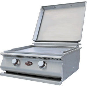 Cal Flame 24-Inch Built-In Stainless Steel Propane Gas Hibachi Griddle / Gas Grill W/ Removable Stainless Steel Cover - BBQ14900P