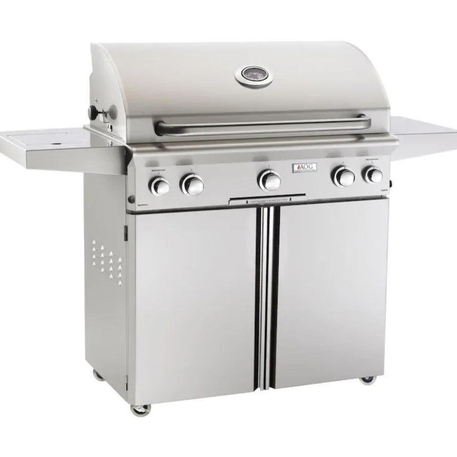 "Fire Magic L Series 36"" 3 Burner Portable Grill Propane Gas Grill with Rotisserie Complete Set - 36PCL"