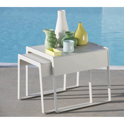 Image of Cane-line Chill Out side Tables - Set Of Two Sizes - 5014