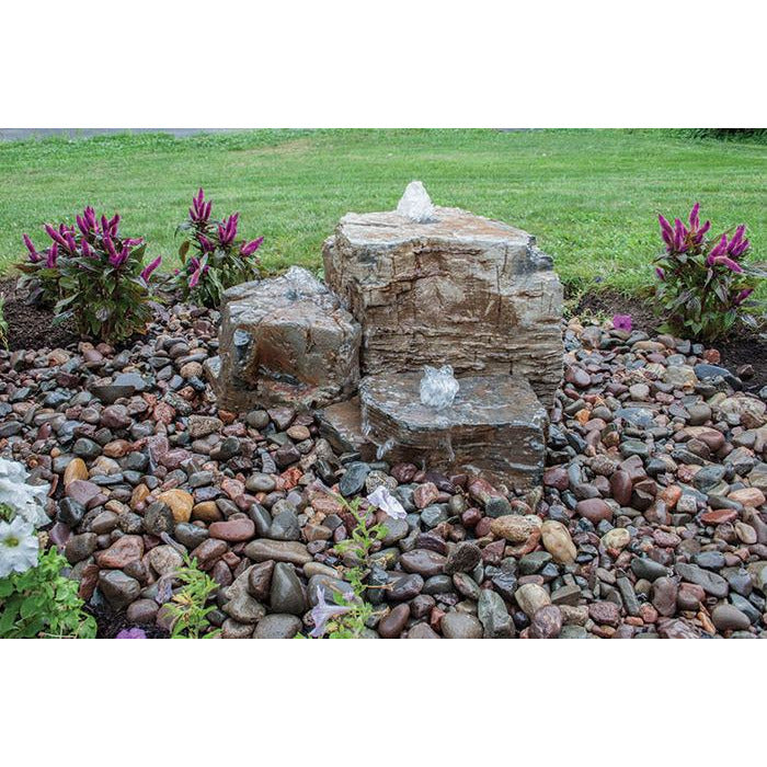 Aquascape Pagoda Fountain Rocks Set of 3 Landscape Fountain Kit 58086