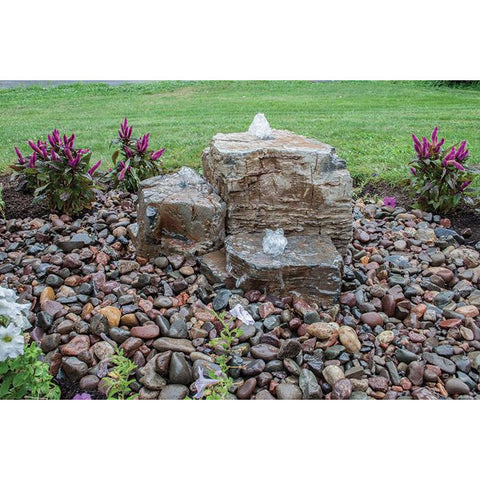 Image of Aquascape Pagoda Fountain Rocks Set of 3 Landscape Fountain Kit 58086