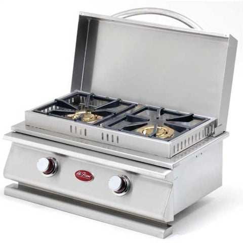 Cal Flame Deluxe Double Side By Side Built-In Propane Gas Side Burner - BBQ19954P