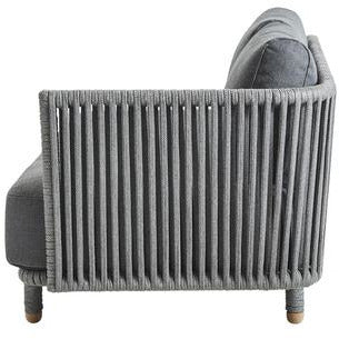 Image of Cane-line Moments 2 Seater Sofa Left Module including Grey Cushion Set Cane-line SoftTouch - 7541