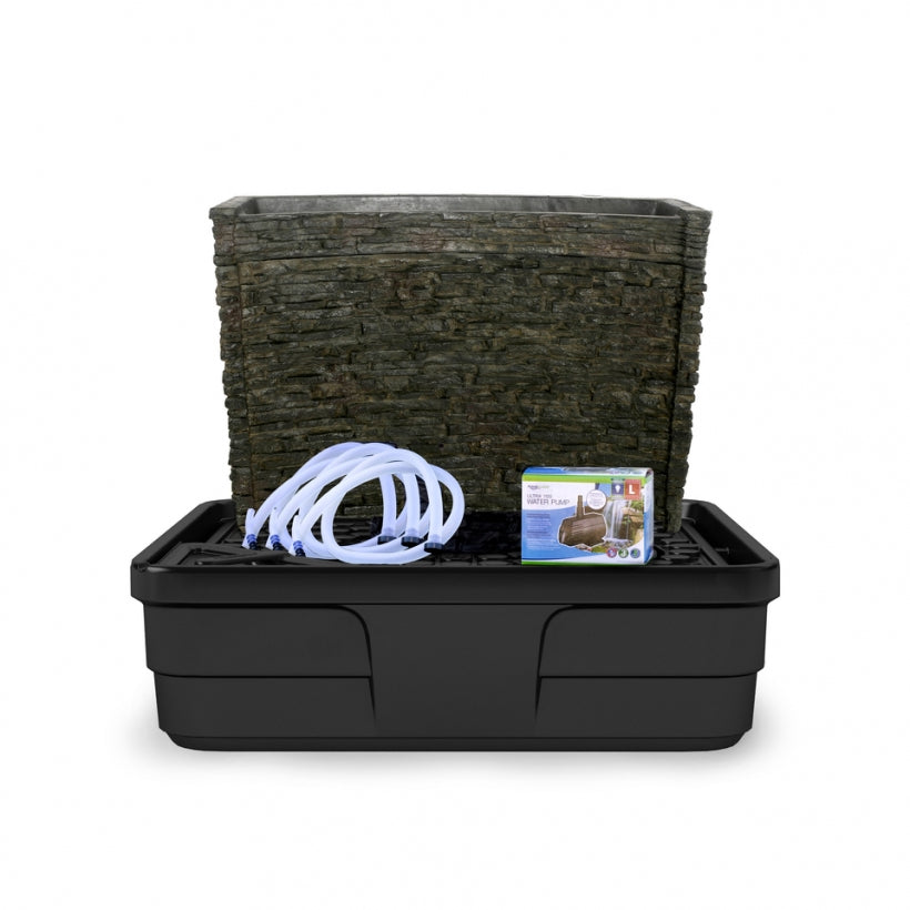 Aquascape Stacked Slate Spillway Wall 32″ Landscape Fountain Kit 78269