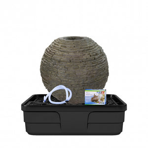 Aquascape Medium Stacked Slate Sphere Landscape Fountain Kit 78290