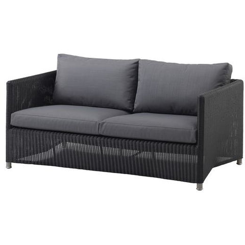 Cane Line Diamond 2 Seater Sofa Weave - 8502LGSG