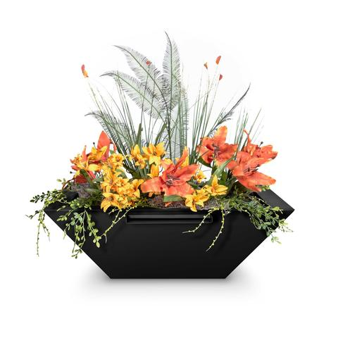Image of The Outdoor Plus Maya Planter Bowl with Water Spillway OPT-36SQPCPW