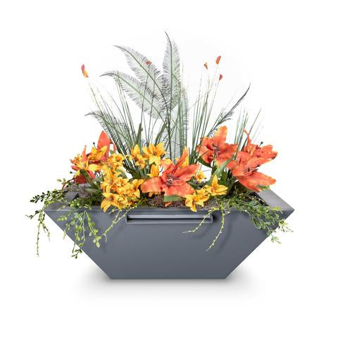 The Outdoor Plus Maya Planter Bowl with Water Spillway OPT-36SQPCPW