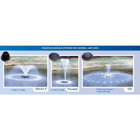 Anjon .5 HP EcoFountain w/ 100' Quick Disconnect Cord AEF15000-100QD