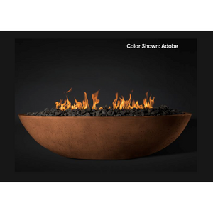 "Slick Rock Concrete 60"" Oasis Oval Fire Bowl with Match-Lit Ignition KOF60MNG"