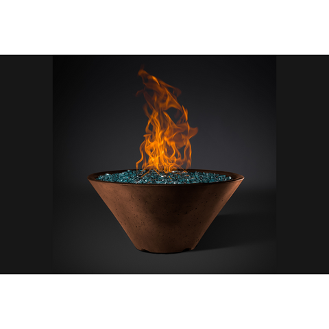 "Slick Rock Concrete 34"" Ridgeline Conical Fire Bowl with Media Pan KRL34CBM"