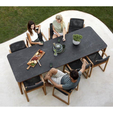 Image of Cane Line Aspect Dining Table Base 210x100 cm Teak - 50802