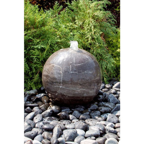Image of Blue Thumb 16″ Blue Limestone Sphere Fountain ABART4816 - ProYardSupply