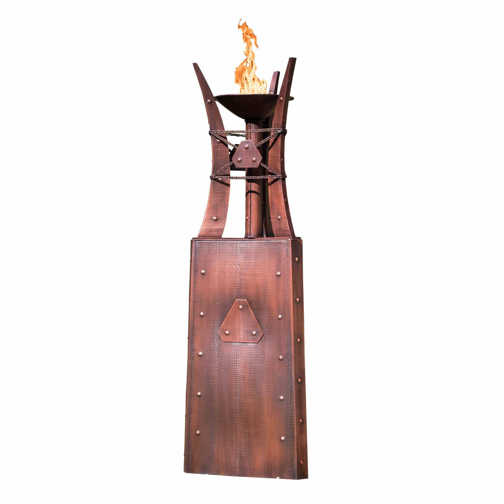 "The Outdoor Plus Bastille Fire Tower 87"" - Hammered Copper OPT-FTWR3"