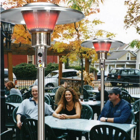 Schwank Deluxe Stainless Steel Commercial Outdoor Patio Heater - Liquid Propane - PS-4005-CB