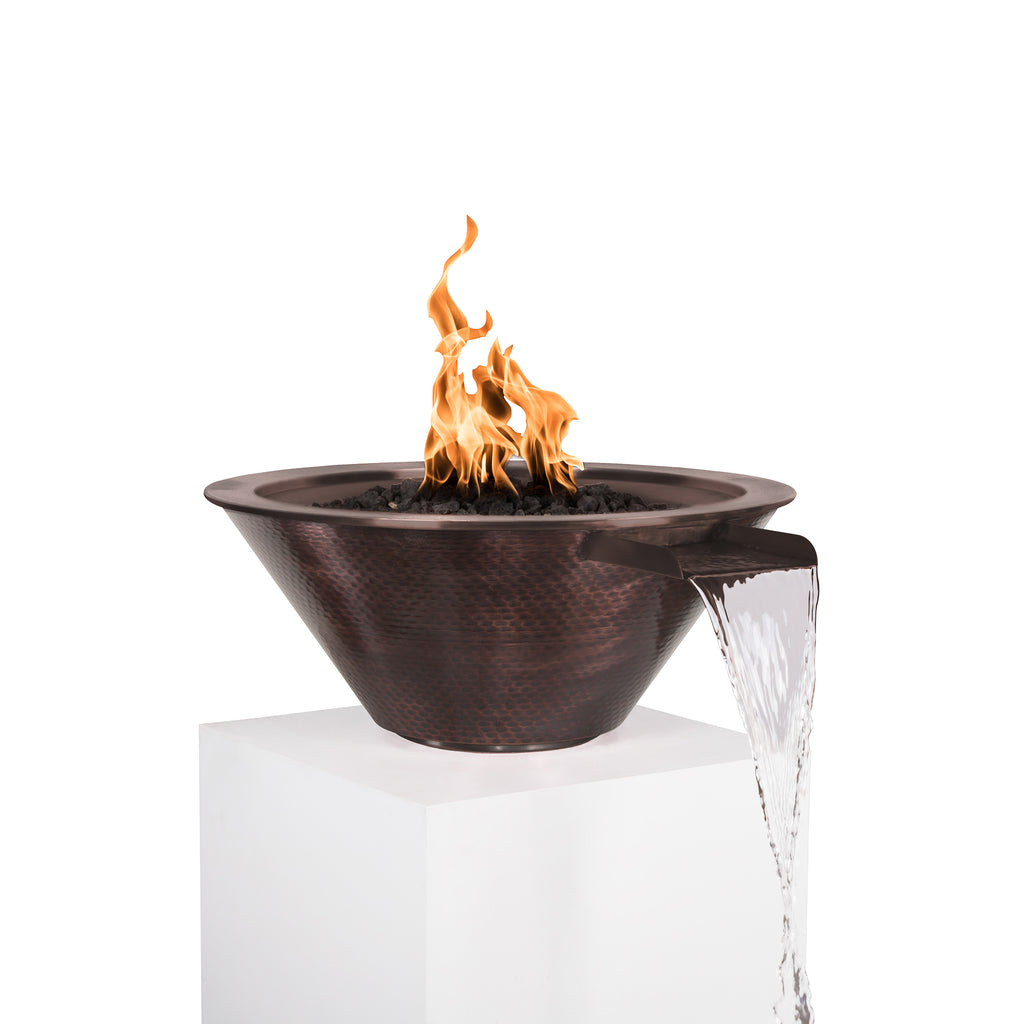 "The Outdoor Plus Cazo Fire & Water Bowl - Electronic Ignition Package of  1 - 24"" - OPT-101-24NWCBE12V"