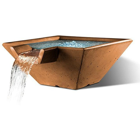 "Image of Slick Rock Concrete 34"" Cascade Square Bowl + Copper Spillway KCC34SSPC"