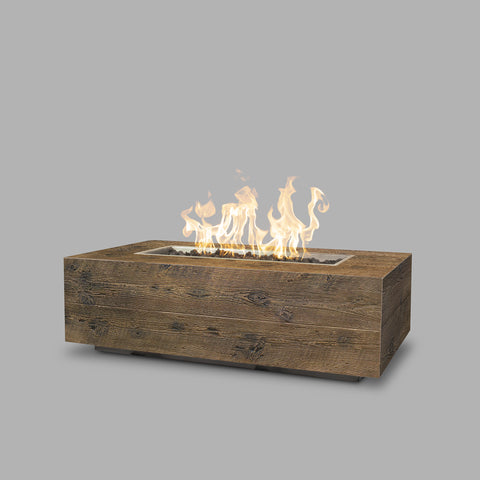 "The Outdoor Plus Coronado Wood Grain Fire Pit - 48"" - Electronic Ignition OPT-COR48EKIT"