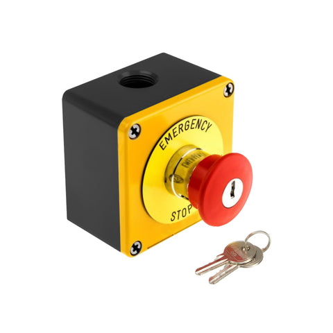 The Outdoor Plus Emergency Stop Button with Key OPT-ESTOPKEY