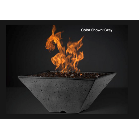 "Image of Slick Rock Concrete 34"" Ridgeline Square Fire Bowl w/Electronic Ignition KRL34SEING"