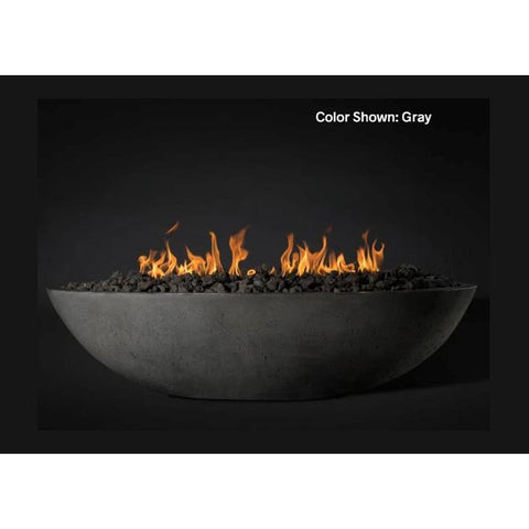 "Image of Slick Rock Concrete 60"" Oasis Oval Fire Bowl with Electronic Ignition KOF60EING"