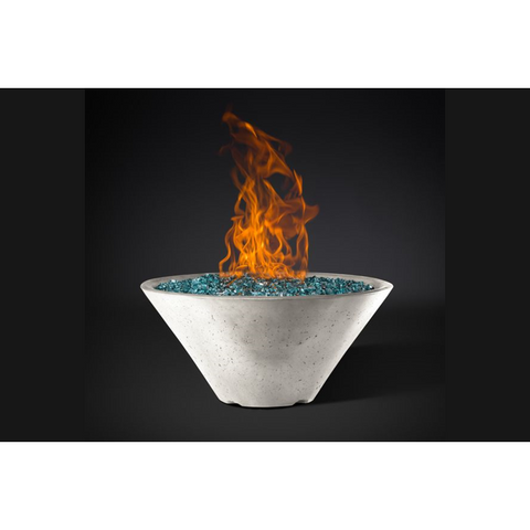 "Slick Rock Concrete 34"" Ridgeline Conical Fire Bowl with Electronic Ignition KRL34CMLP"