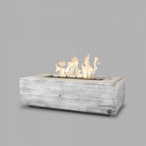 "Image of The Outdoor Plus Coronado Wood Grain Fire Pit - 84"" OPT-COR84"