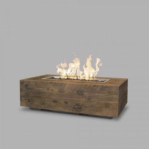 "Image of The Outdoor Plus Coronado Wood Grain Fire Pit - 108"" - Electronic Ignition OPT-COR108EKIT"