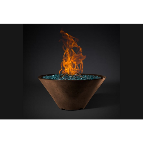 "Image of Slick Rock Concrete 34"" Ridgeline Conical Fire Bowl with Electronic Ignition KRL34CMLP"