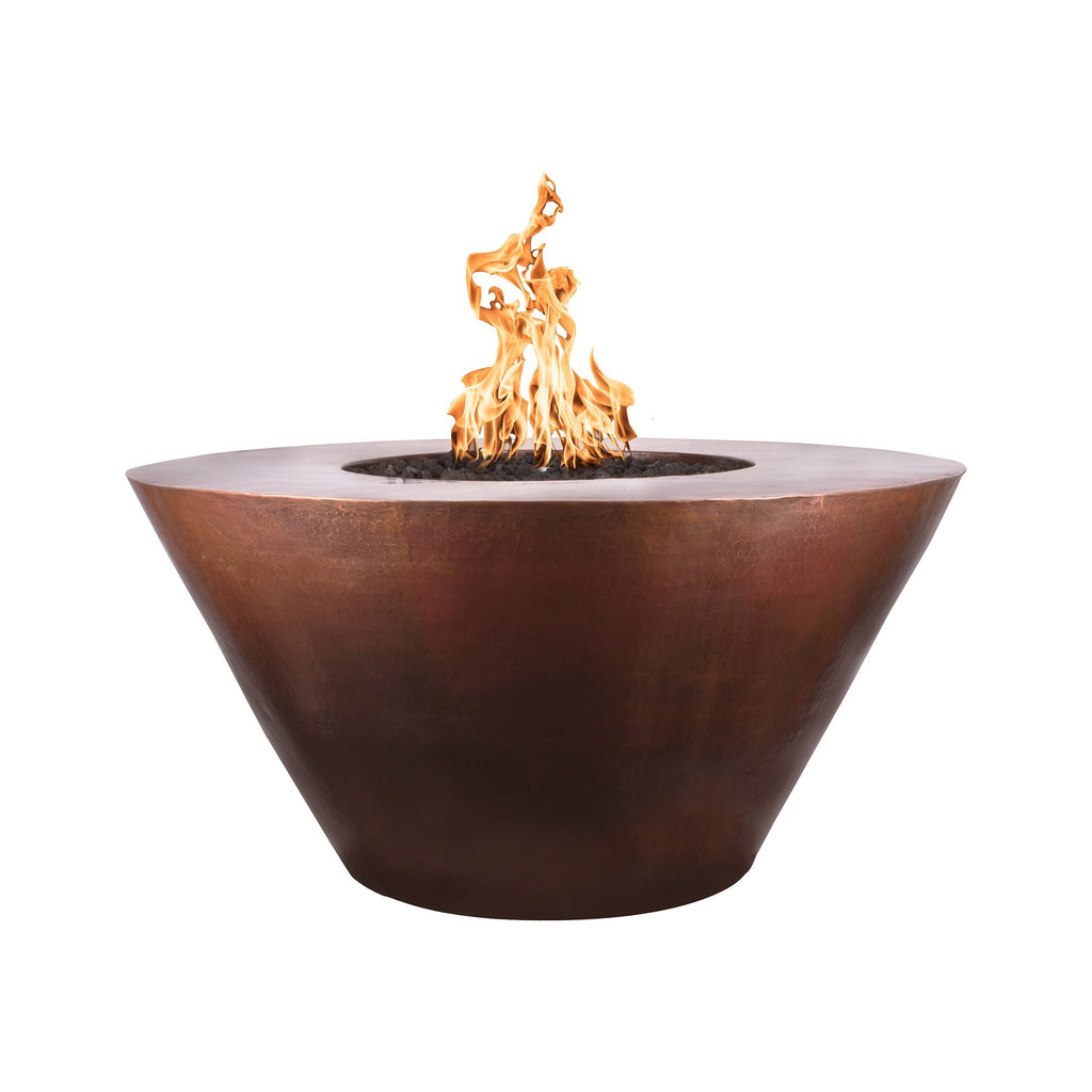 The Outdoor Plus Martillo Round Copper Fire Pit - Electronic Ignition OPT-48RME