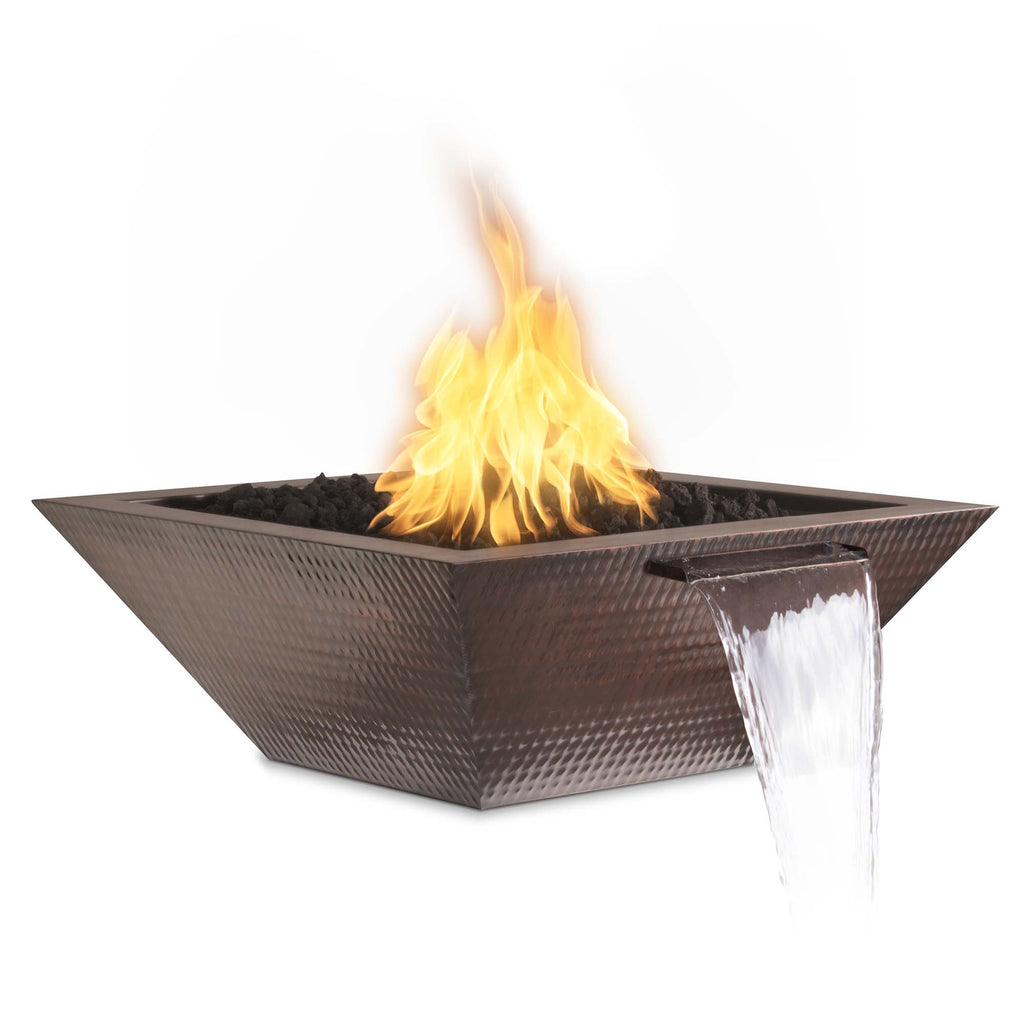 "The Outdoor Plus Maya Fire & Water Bowl - Electronic Ignition Package of 2 - 30"" x 30"" - OPT-30SCFWE12V-2"
