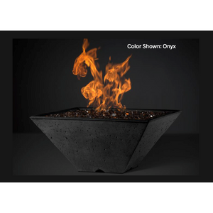 "Slick Rock Concrete 22"" Ridgeline Square Fire Bowl with Media Pan KRL22SBM"