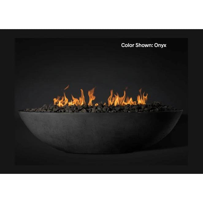 "Slick Rock Concrete 60"" Oasis Oval Fire Bowl with Electronic Ignition KOF60EING"