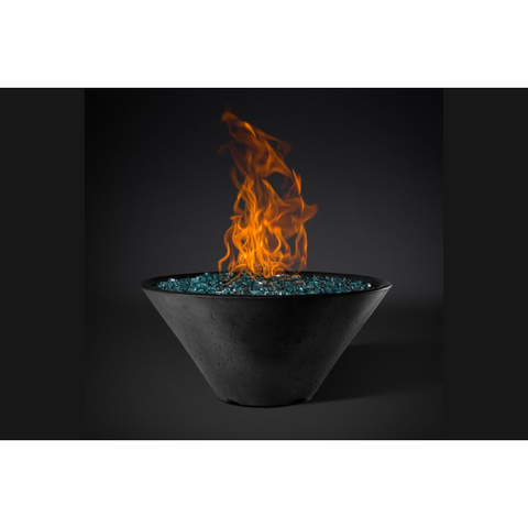 "Slick Rock Concrete 22"" Ridgeline Conical Fire Bowl with Match Ignition KRL22CMNG"