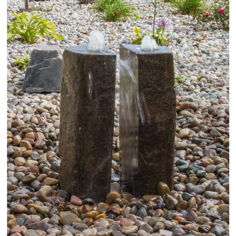 Image of Blue Thumb Basalt Fountain Kit - 36″ Double Split Polished 2 Piece ABBC950 - ProYardSupply