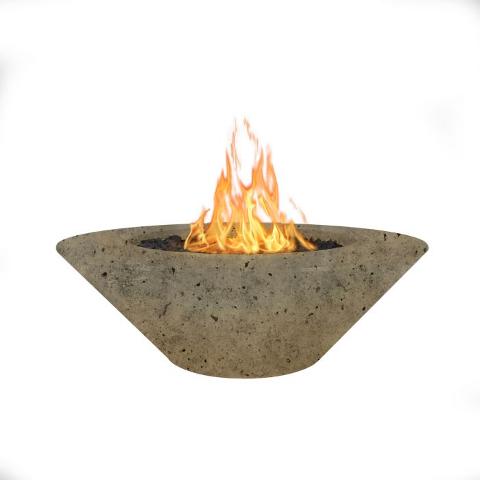 "The Outdoor Plus Cazo Concrete Fire Pit - 48"" - Electronic Ignition OPT-CZ48EKIT"