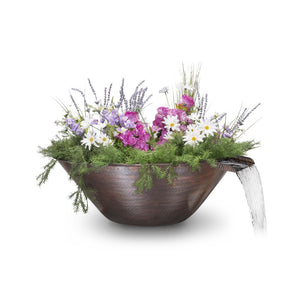 "The Outdoor Plus Remi Planter with Water Bowl - 31"" - OPT-31RCPW"