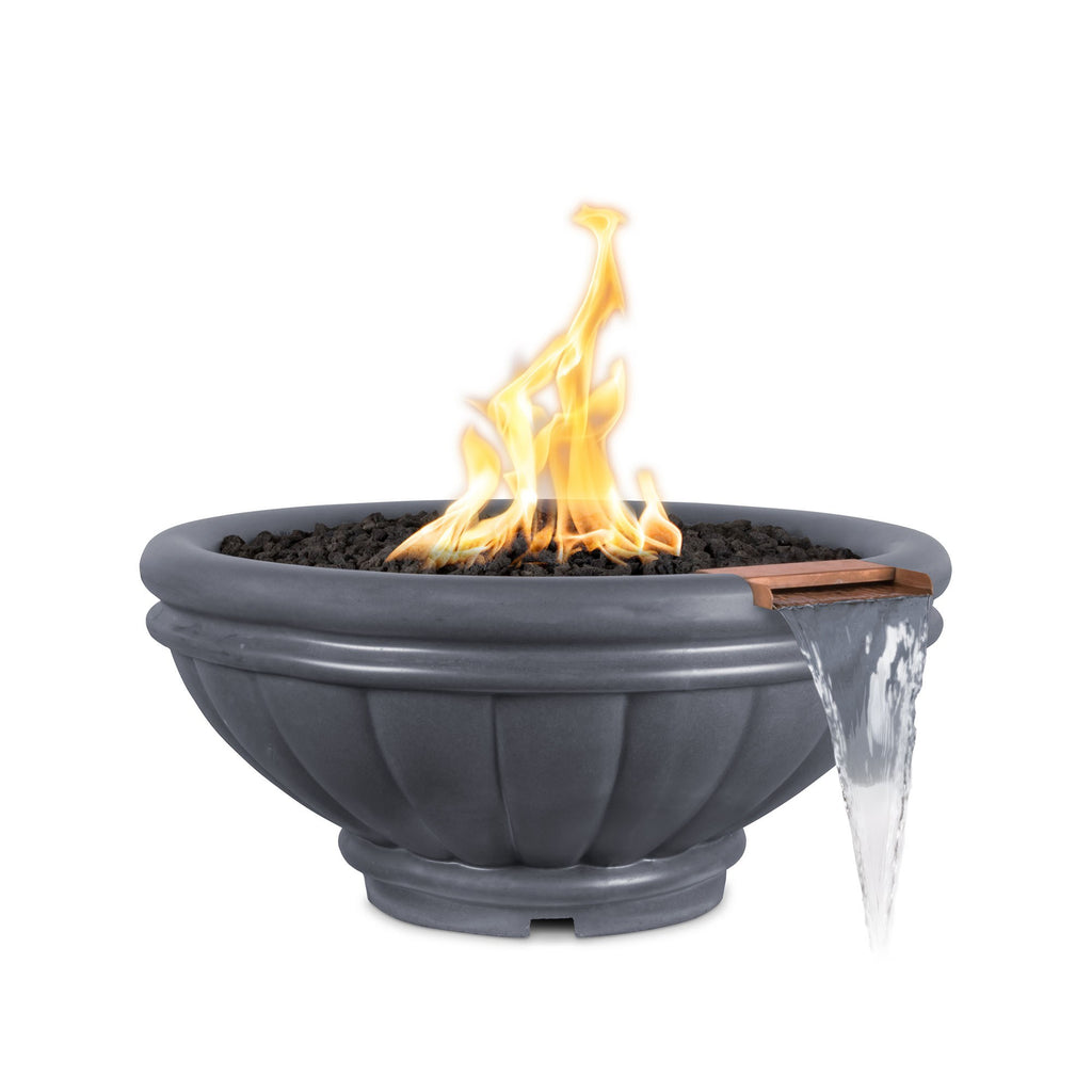 "The Outdoor Plus Roma Fire & Water Bowl, Electronic Ignition 37"" - OPT-ROMFW37E12V"