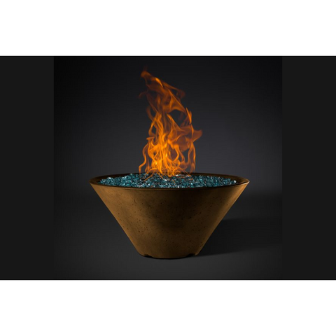 "Image of Slick Rock Concrete 29"" Ridgeline Conical Fire Bowl with Electronic Ignition KRL29CEILP"