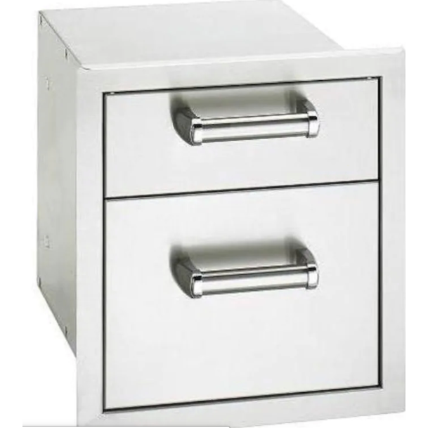 Fire Magic Premium Flush 14-Inch Double Access Drawer With Soft Close - 53802SC