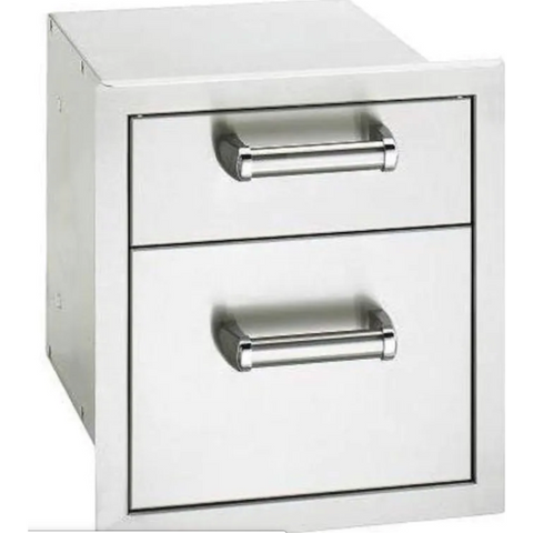 Image of Fire Magic Premium Flush 14-Inch Double Access Drawer With Soft Close - 53802SC