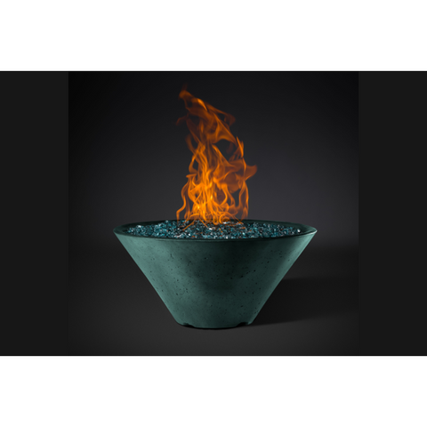 "Slick Rock Concrete 29"" Ridgeline Conical Fire Bowl with Match-Lit Ignition KRL29CMNG"