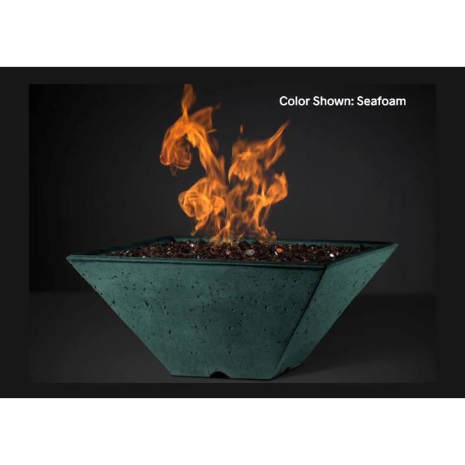 "Slick Rock Concrete 22"" Ridgeline Square Fire Bowl with Electronic Ignition KRL22SEING"
