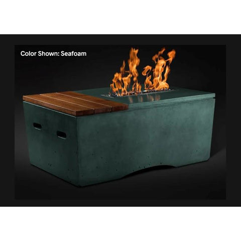 "Image of Slick Rock Concrete 48"" Oasis Fire Table with Electronic Ignition KOF48EING"